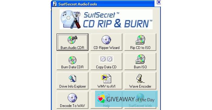 Download SurfSecret CD Rip & Burn 2019 for Windows