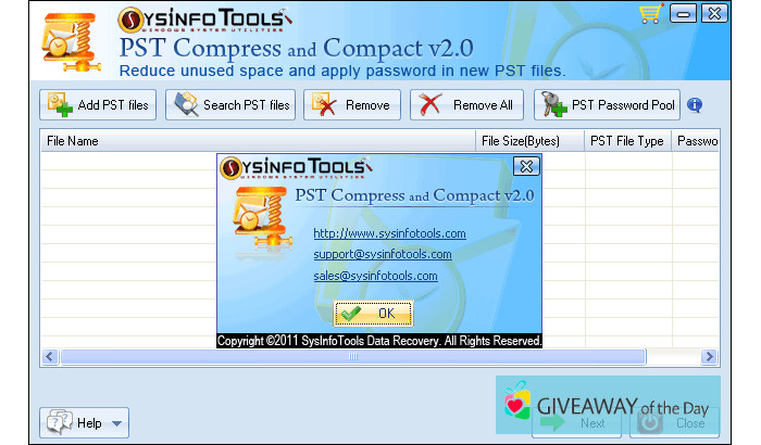 Download SysInfoTools PST Compress And Compact 2019 for